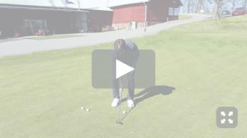 Golfspelet puttning
